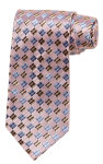 Superior Uniform Group 26726 Pink/Pewter/Blue Checkerbrd Silk Woven Tie
