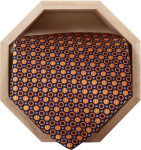 Superior Uniform Group 26734 Unisex Navy/Gold Dot Silk Tie