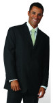 Superior Uniform Group 28217 Mens Charcoal Signature 3-Btn Coat
