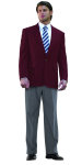 Superior Uniform Group 28465 Mens Burgundy Poly 2-Btn Blazer