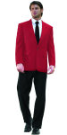 Superior Uniform Group 28466 Mens Red Poly 2-Btn Blazer