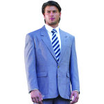 Superior Uniform Group 28467 Mens Heather Grey Poly 2-Btn Blazer