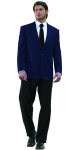 Superior Uniform Group 28469 Mens Navy Poly 2-Btn Blazer
