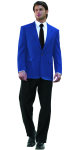 Superior Uniform Group 28471 Mens Royal Poly 2-Btn Blazer