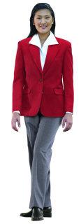 Superior Uniform Group 28473 Ladies Red Poly 2-Btn Blazer