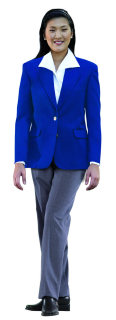 Superior Uniform Group 28478 Ladies Royal Poly 2-Btn Blazer