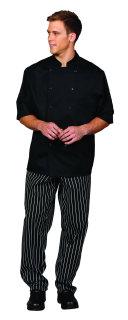 Superior Uniform Group 3032 Unisex Black PTF SS Chef Coat