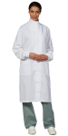 Superior Uniform Group 3418 3418-Unisex White 80/20 Lab Coat/Cuffs/KN