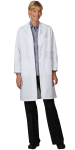 Superior Uniform Group 3425 Ladies White 65/35 FLT Lab Coat/TR (N)