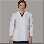 Superior Uniform Group 3487 Ladies White 65/35 POP Fashion Lab Coat