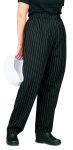 Superior Uniform Group 3852 Unisex Black/White Pencil Stripe Pants
