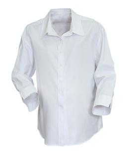 Superior Uniform Group 40080 White Raised Twl 3/4 Sleeve Maternity Shirt