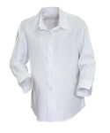 Superior Uniform Group 40080 White Raised Twl 3/4 Sleeve Maternity Shirt