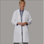 Superior Uniform Group 400 Ladies White 80/20 Lab Coat TR