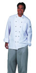 Superior Uniform Group 40101 UV1788 Uni White P/C (R) Trad Chef Coat