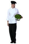 Superior Uniform Group 40103 UV1900 Uni White P/C (R) Chef Coat/10KB