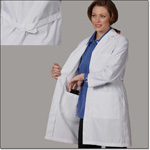 Superior Uniform Group 407 Ladies Wht 65/35 POP Cnslt Coat Lrg Pkts
