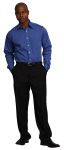Superior Uniform Group 41088 UV 7178 Mens Fr Blue End On End LS Shirt