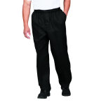 Superior Uniform Group 42101 Unisex Black P/C Contemporary Chef Pant