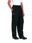 Superior Uniform Group 42104 UV 1844 Uni Black Ctn Exec Chef Pants