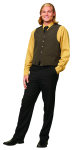 Superior Uniform Group 43000 UV 7202 Unisex Black/Gold Hatch Vest