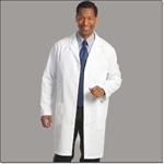 Superior Uniform Group 432 Mens White 65/35 FFP Lab Coat ST