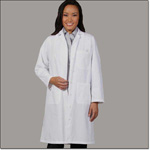 Superior Uniform Group 438 Ladies White 65/35 POP Lab Coat FL