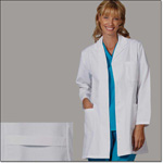 Superior Uniform Group 444 Ladies White 65/35 POP Fashion Lab Coat Sk
