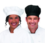 Superior Uniform Group 47001 Unisex Black Small Floppy Chef Hat