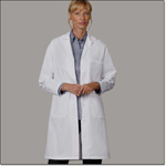 Superior Uniform Group 477 Ladies White 65/35 POP Lab Coat TR (N)