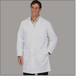 Superior Uniform Group 490 Mens White 65/35 FFP Lab Coat ST (N)