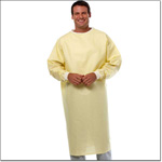 Superior Uniform Group 506 Yellow Broadcloth Isolation Gown