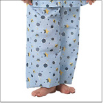 Superior Uniform Group 5511 Child Turt-l Blue Pajama Pants