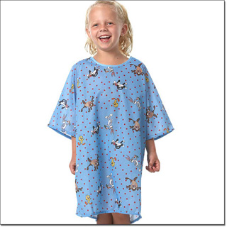 Superior Uniform Group 5571 Child Cartoon Blue Gown/Tie