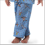 Superior Uniform Group 5575 Child Cartoon Blue Pajama Pants