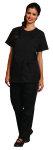 Superior Uniform Group 6008 Ladies Black Zip Front Tunic/Mesh