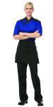 "Superior Uniform Group 60090 Uni Black RecPoly 15"" Waist Apron/3 Pockets"