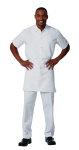 Superior Uniform Group 60116 Unisex White P/C SS Kitchen Shirt/No Pocket