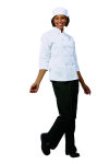 Superior Uniform Group 60124 Ladies White FLT LS Chef Coat/10 Btns