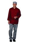 Superior Uniform Group 60129 Unisex Chili Red Twl Chef Coat
