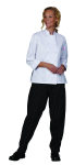 Superior Uniform Group 60137 Ladies White 100C 3/4 Sleeve Chef Coat
