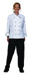 Superior Uniform Group 60138 Ladies White Chef Coat/Black Trim