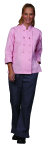 Superior Uniform Group 60154 Ladies Pink Twl Chef Coat