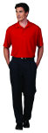 Superior Uniform Group 60162 Mens Mars Red Shadow Stripe SS Knit Shrt