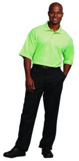Superior Uniform Group 60200 Mens Green Apple Waffle Knit SS Shirt