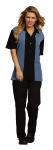 Superior Uniform Group 61149 Unisex Black/Blue Panel SS Camp Shirt