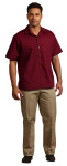 Superior Uniform Group 61191 Mens Burgundy P/C Poplin SS Camp Shirt