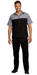Superior Uniform Group 61207 Unisex Blk/Graph SS ColorBlock Work Shrt