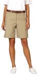 Superior Uniform Group 61292 Ladies Khaki Twl Flat Front Short