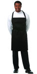 "Superior Uniform Group 61639 XL Black 33"" Bib Apron/Pockets"